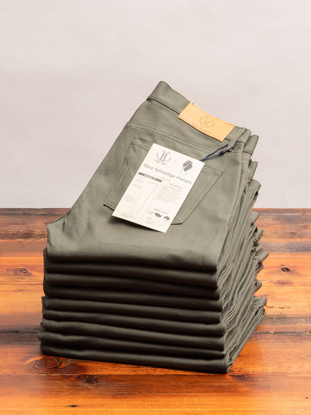 "JBO-4400 ""Hanpu"" 10oz Olive Selvedge Chino - Tapered Fit"