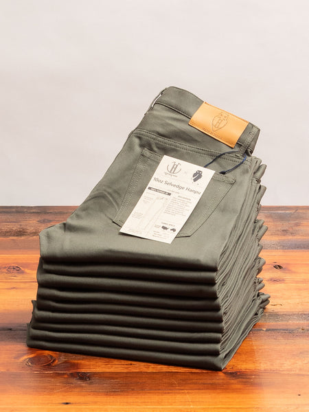 "JBO-6400 ""Hanpu"" 10oz Olive Selvedge Chino - High Tapered Fit"