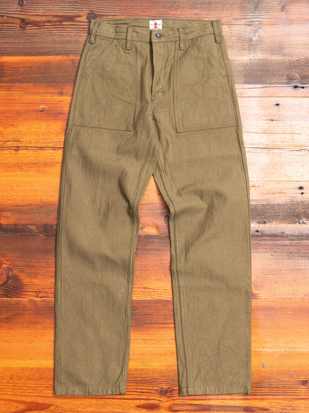 SJ52BP 15oz Slub Selvedge Chino in Olive