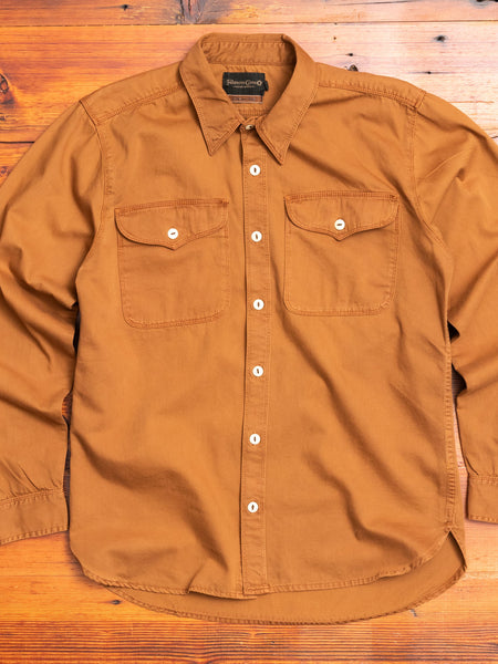 Utility Work Shirt in Tobacco