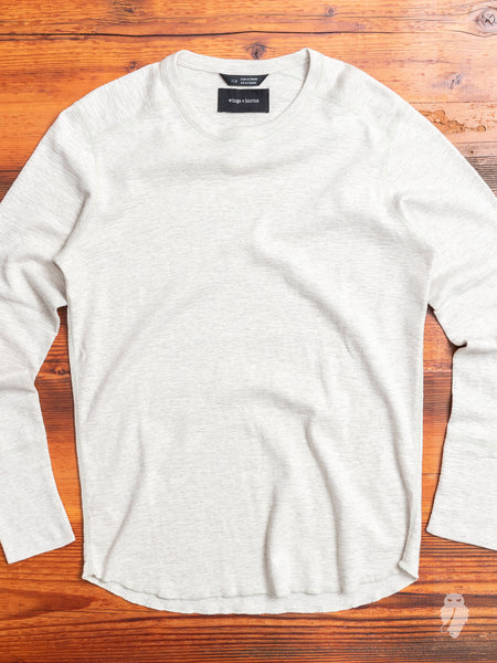 1x1 Long Sleeve T-Shirt in Heather Ash