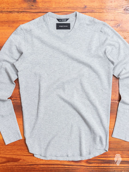 1x1 Long Sleeve T-Shirt in Heather Grey