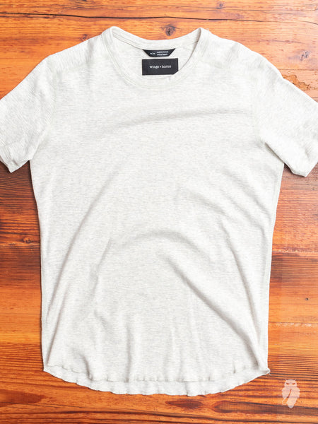 1x1 Slub T-Shirt in Heather Ash