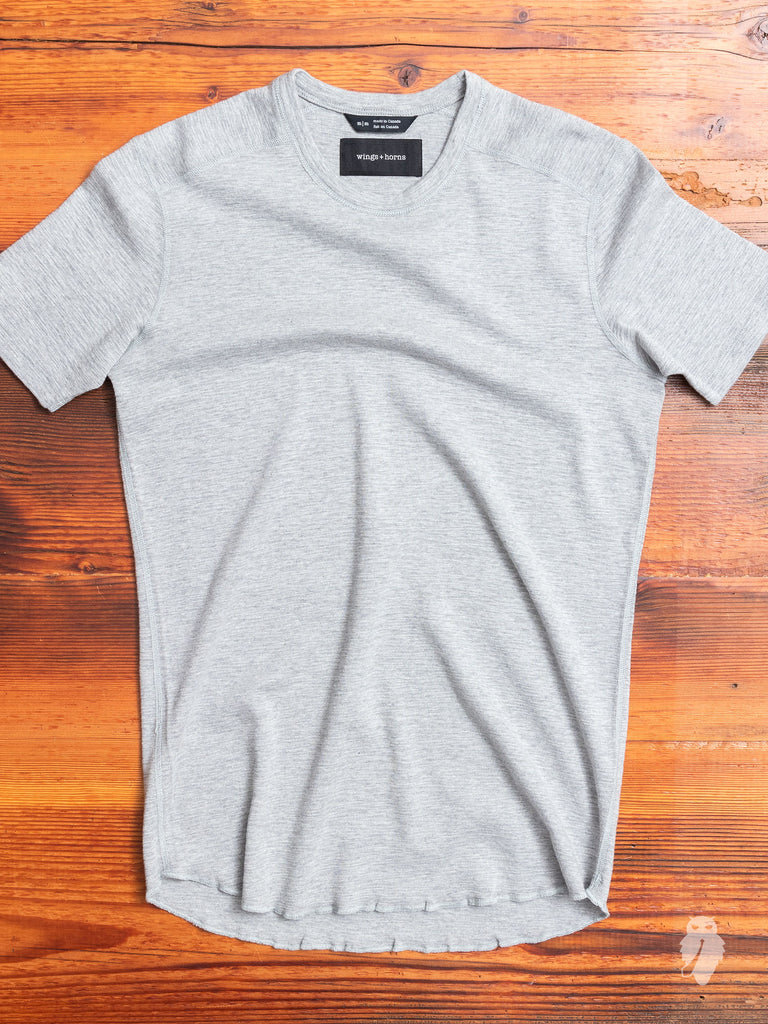 1x1 Slub T-Shirt in Heather Grey