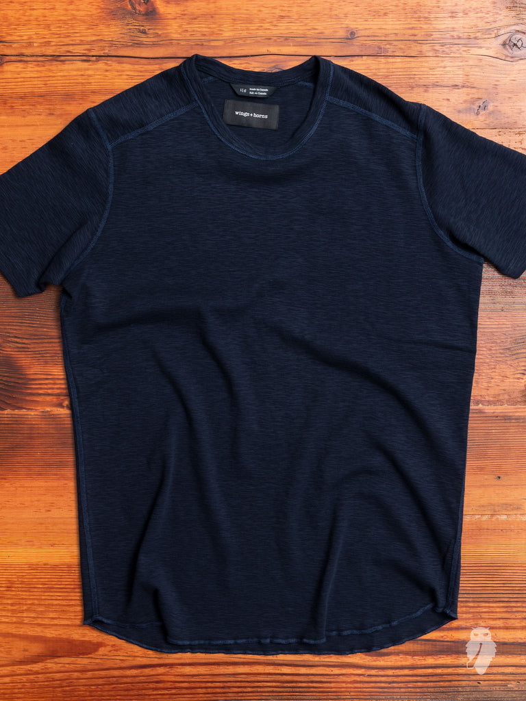 1x1 Slub T-Shirt in Navy