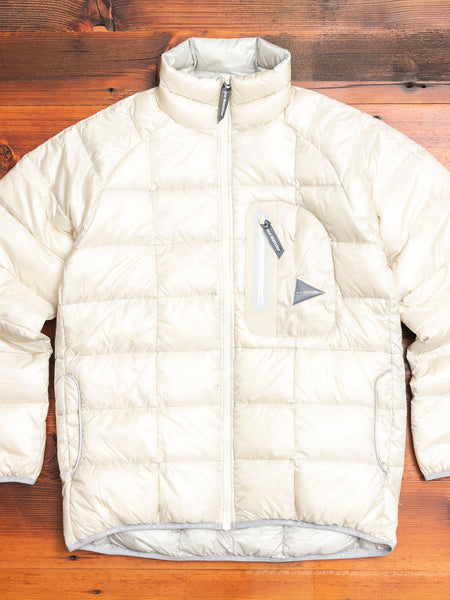 Diamond Stitch Down Jacket in White