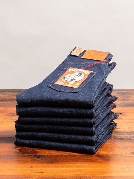 """Elephant 9 - Wild Blue"" 21oz Selvedge Denim - Easy Guy Fit"
