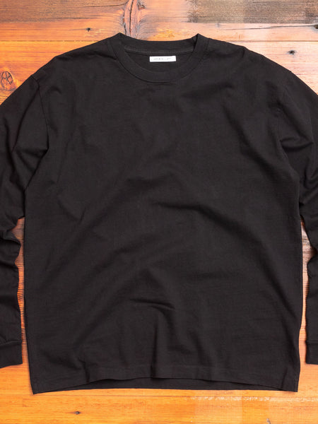 Long Sleeve University T-Shirt in Black
