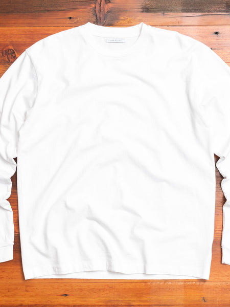 Long Sleeve University T-Shirt in White
