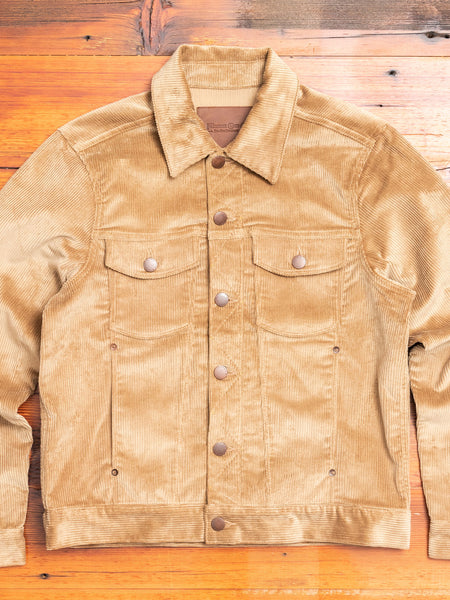 Classic Jacket in Tan Corduroy