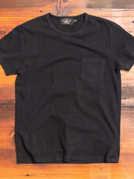 Slub Jersey Pocket T-Shirt in Black Indigo