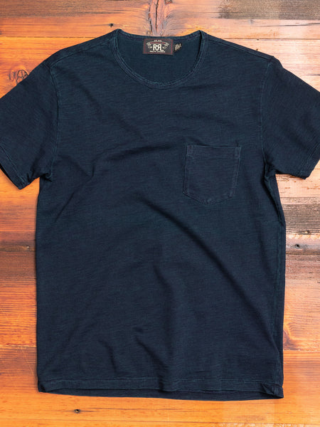 Slub Jersey Pocket T-Shirt in Indigo
