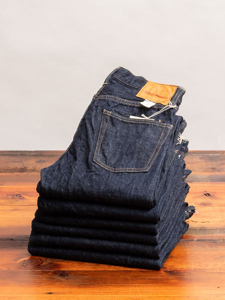 900XX 13.5oz Rinsed Selvedge Denim - Slim Tapered Fit