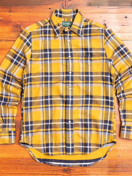 Rough Check Flannel in Yellow
