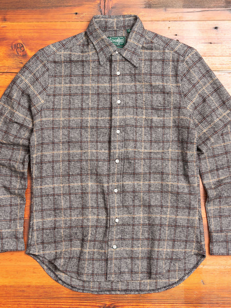 Tweed Check Flannel in Grey