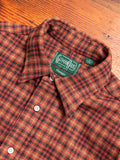 Tweed Check Flannel in Red