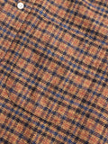 Tweed Check Flannel in Rust