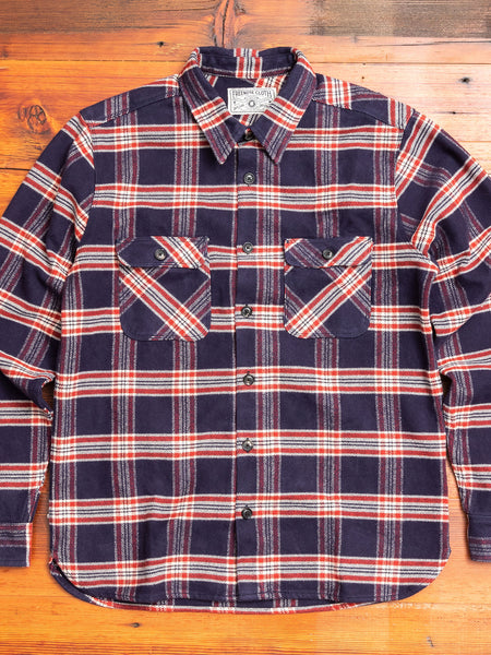 Benson Flannel Work Shirt in Navy Plaid