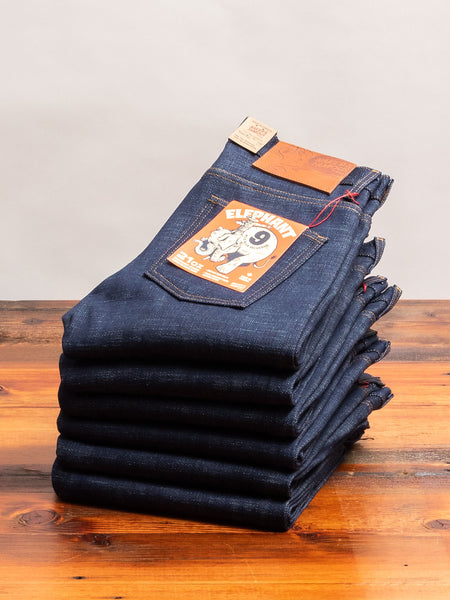 """Elephant 9 - Wild Blue"" 21oz Selvedge Denim - Super Guy Fit"
