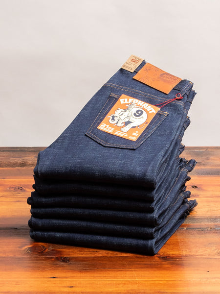 """Elephant 9 - Wild Blue"" 21oz Selvedge Denim - Weird Guy Fit"