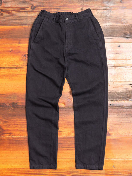 Linen Tapered Pants in Black