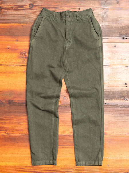 Linen Tapered Pants in Khaki