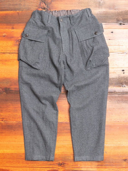 Military Trousers in Melange Grey
