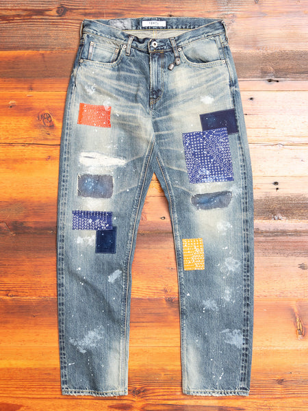 Boro Repair Selvedge Denim in Bandana Patchwork