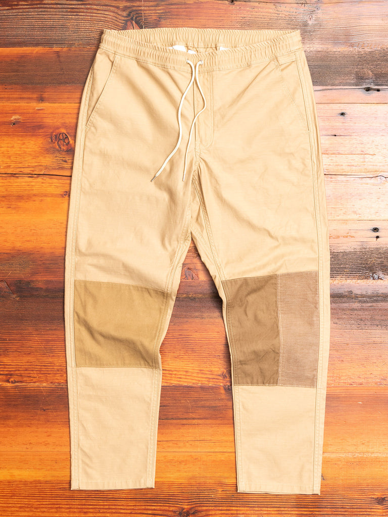 Patchwork Chino Pant in Beige