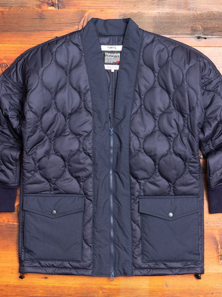 Quilted Haori Jacket in Navy