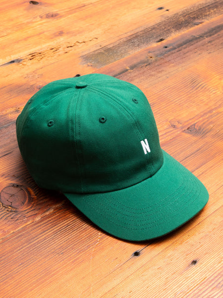 Twill Sports Cap in Sporting Green