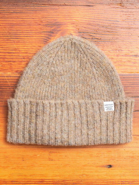 Norse Lambswool Beanie in Shale Stone