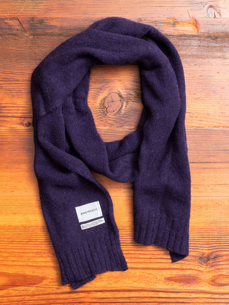 Norse Brushed Scarf in Dark Navy