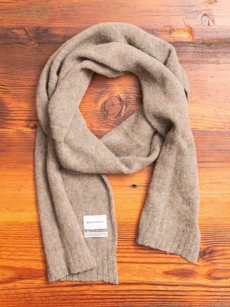 Norse Brushed Scarf in Shale Stone