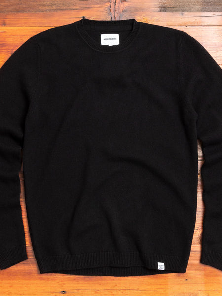 Sigfred Lambswool Sweater in Black