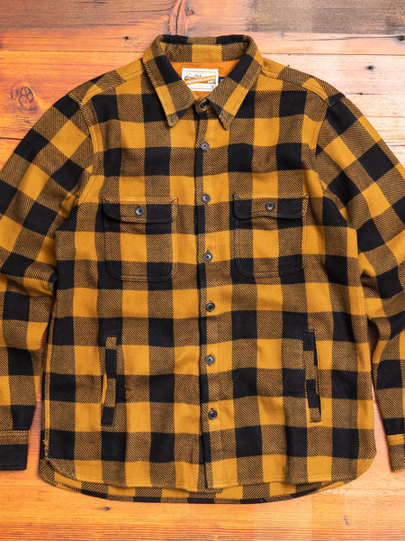 Alta Overshirt in Gold Plaid