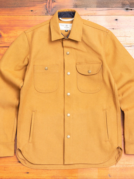 Service Shirt in Copper Selvedge Canvas
