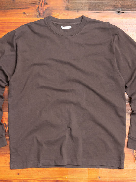 Long Sleeve University T-Shirt in Charcoal