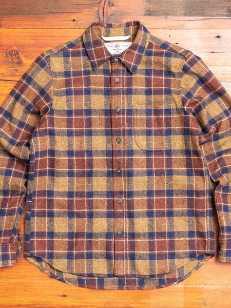 """Jumper Shirt"" in Ochre Herringbone Plaid"