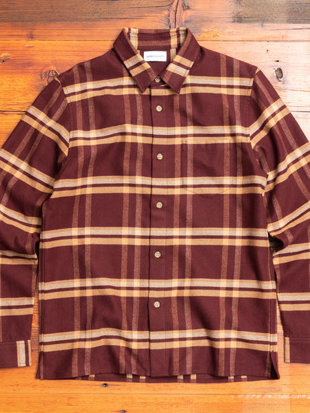 Sly Straight Hem Flannel in Pico Check