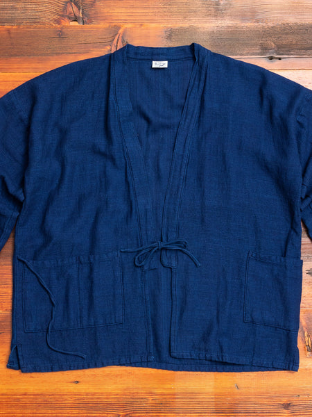 """Takumi"" Workman Haori Jacket in Indigo Jersey"