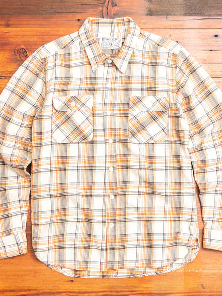 Jepson Work Shirt in Cream Plaid