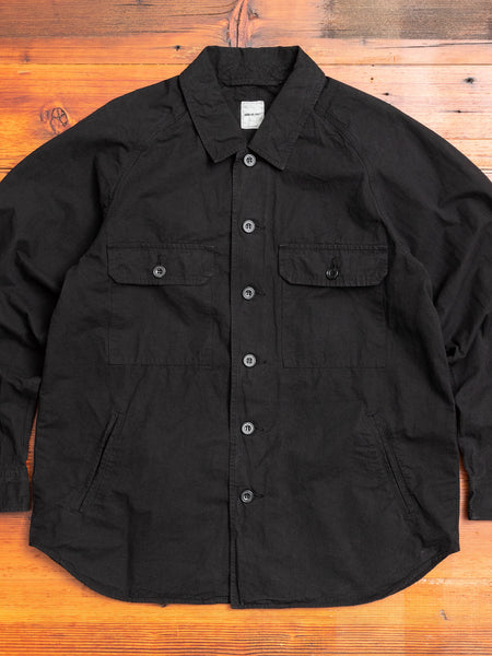 Hemp Shirt Jacket in Black