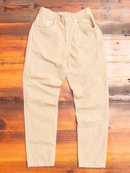 Hemp Tapered Pants in Beige