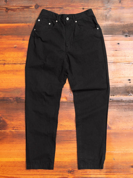 Hemp Tapered Pants in Black