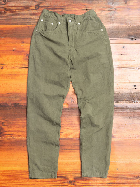 Hemp Tapered Pants in Khaki