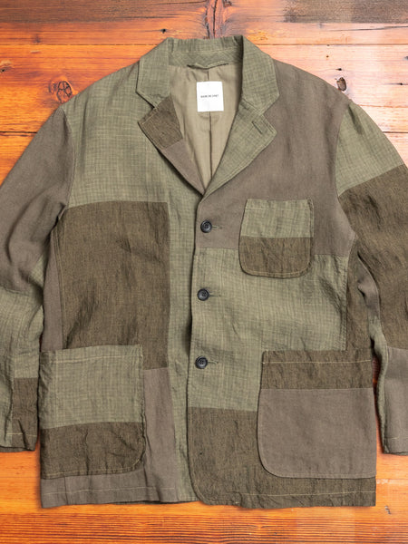 Patchwork Tailored Jacket in Khaki