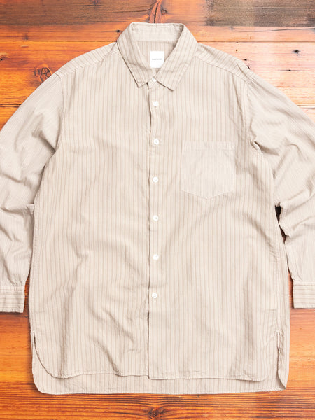 Regular Collar Longshirt in Beige