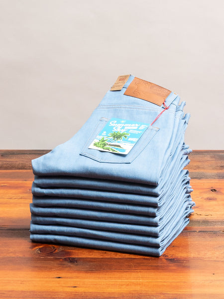 """Summer Sky Selvedge"" 10oz Selvedge Denim - Easy Guy Fit"