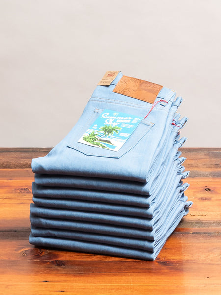 """Summer Sky Selvedge"" 10oz Selvedge Denim - Super Guy Fit"